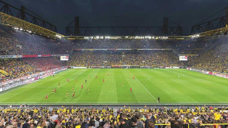 Estadio de fútbol.