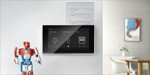 La pantalla táctil ABB RoomTouch permite a los centros sanitarios gestionar los dispositivos inteligentes
