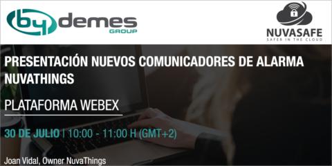 Los comunicadores de alarma protagonizarán el nuevo webinar de By Demes