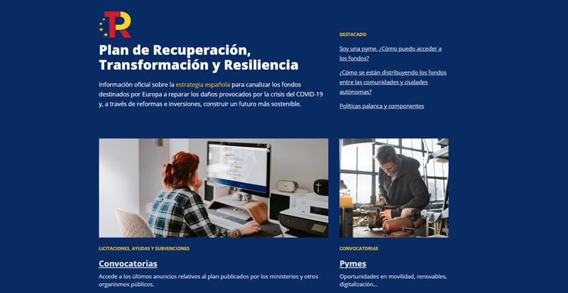 Nueva web Plan de Recuperación.