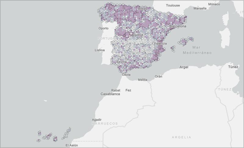 Mapa de zonas elegibles.