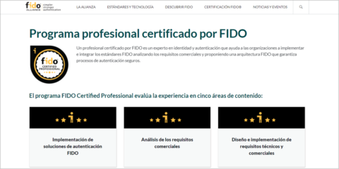 El programa FIDO Certified Professional aumentará el número de expertos en autentificación