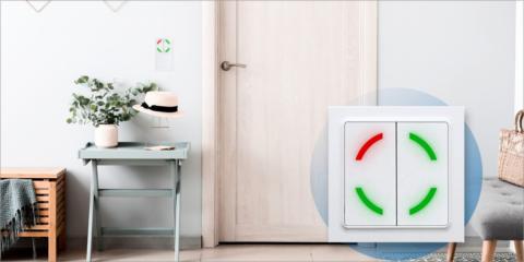 El botón de color inalámbrico de Eltako admite la programación de funciones automatizadas